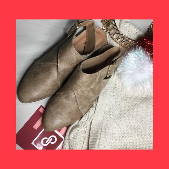 Shoes - Distressed slat bootie w/back buckle nib var sz
